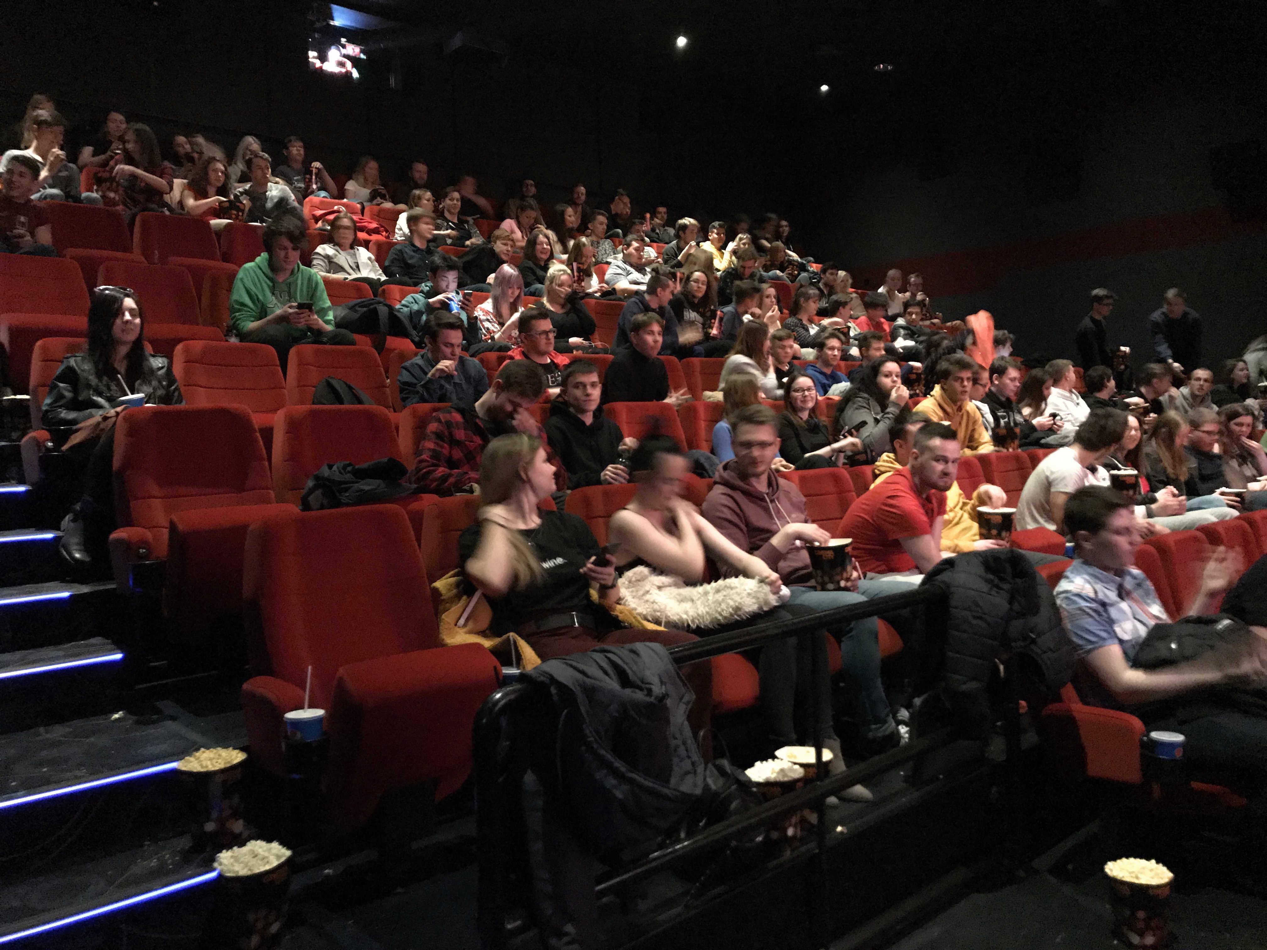 Promítání pro zaměstnance kina Cinema City