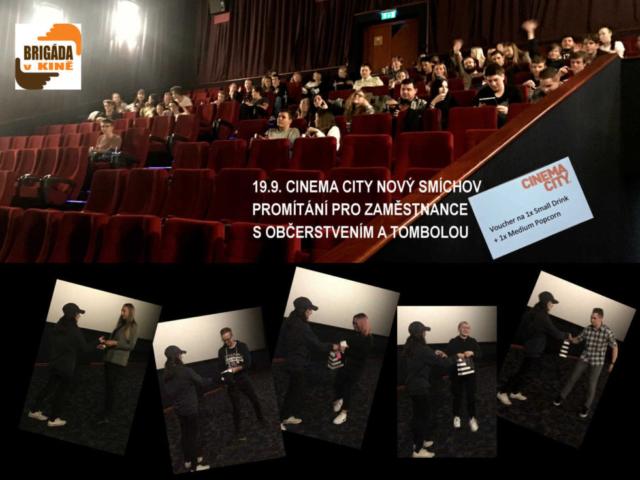 brigada v kině promítání